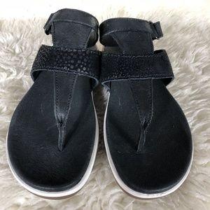 Sorel Torpeda Leather Ankle Sandal Black SZ 7.5 1A